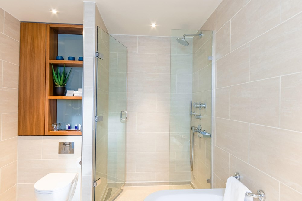 Junior Suite bathroom at Apex London Wall Hotel