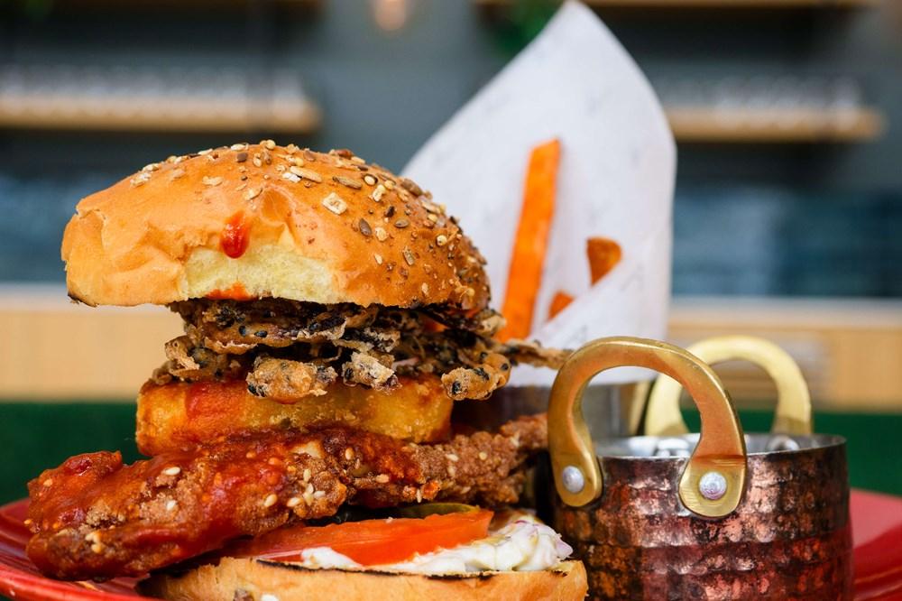 Buffalo Chicken Burger at Quayside Bar & Grill