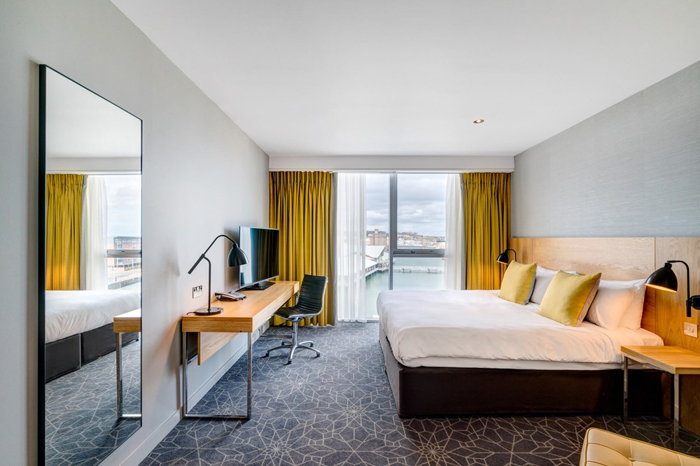 Quay View Room with double bed at Apex City Quay Hotel & Spa