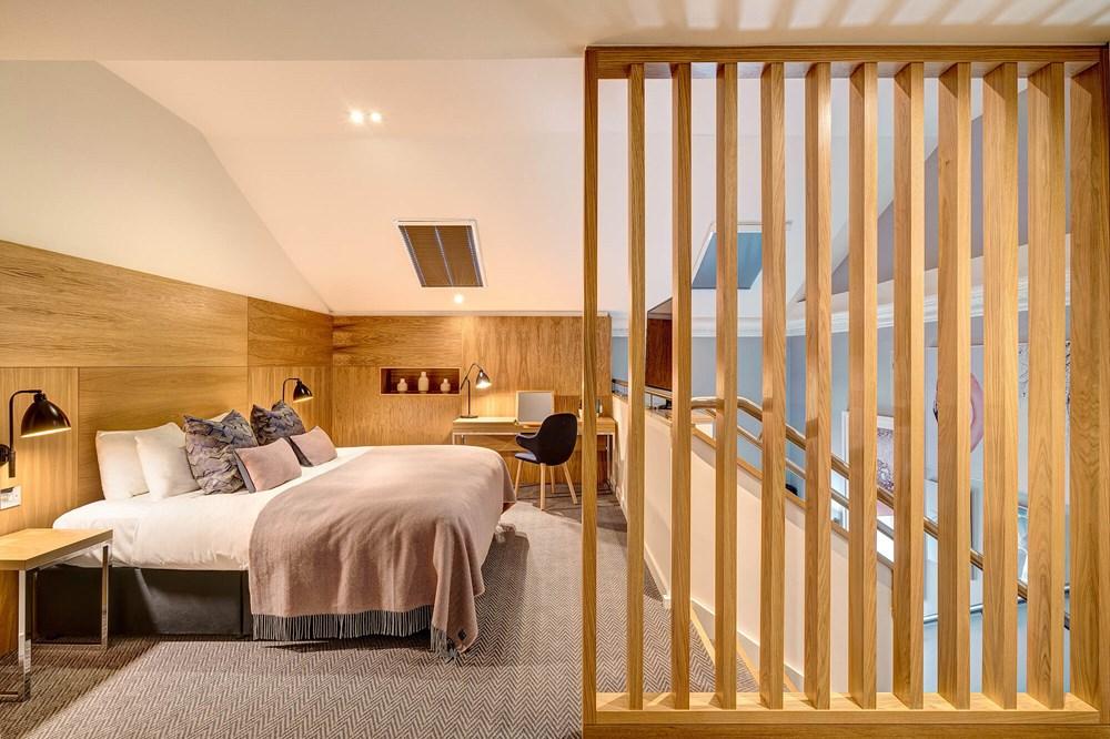 Upstairs bedroom in Duplex Suite at Apex Waterloo Place Hotel
