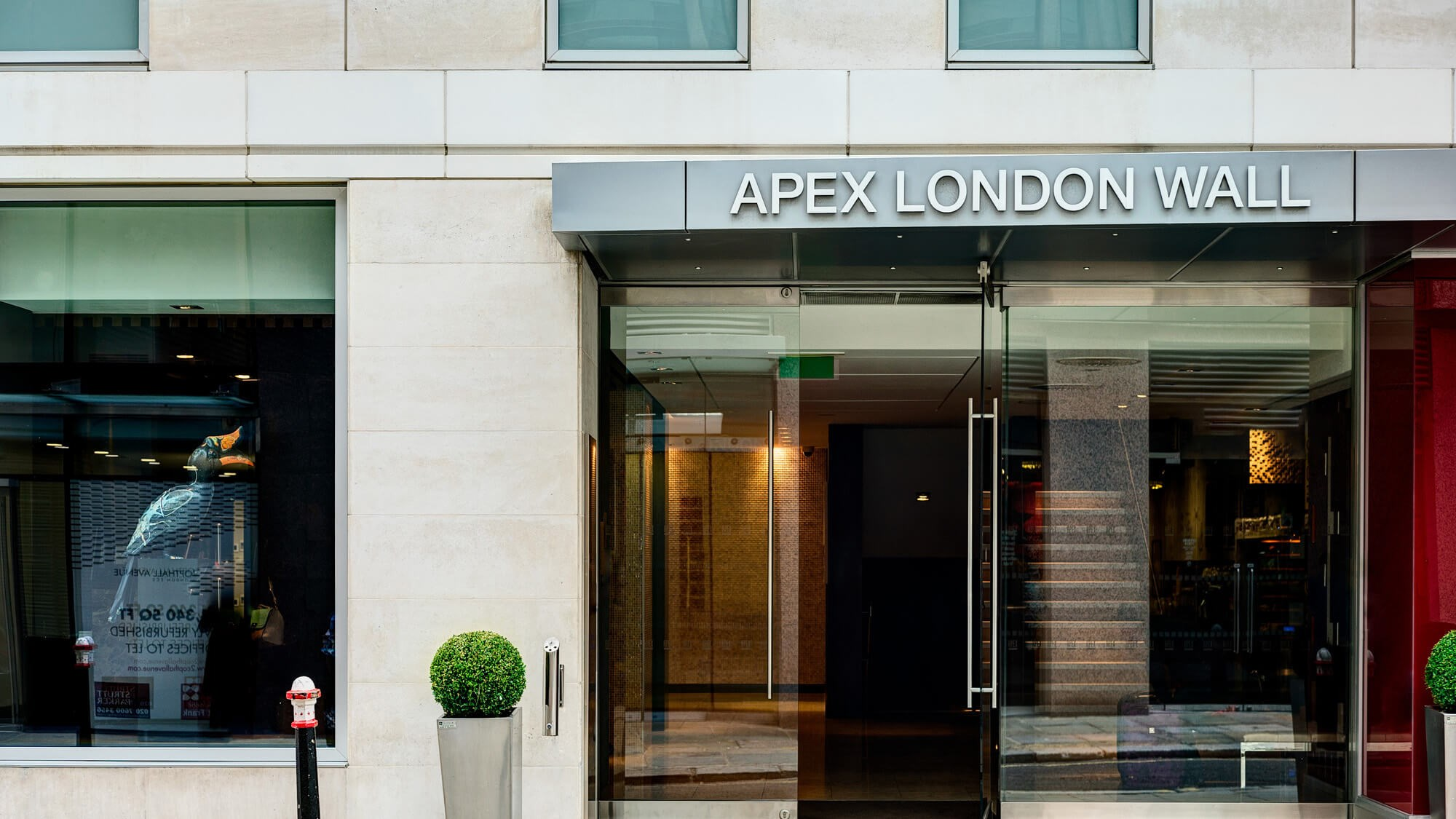 Exterior of Apex London Wall Hotel