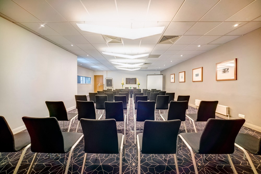 Haymarket Suite set up theatre style for presentation