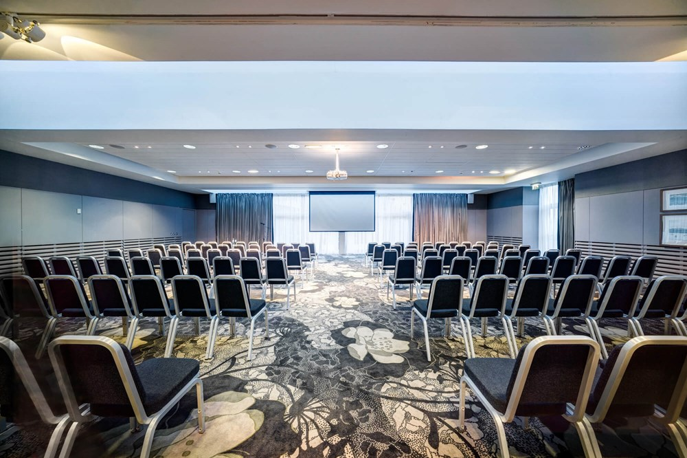 City Quay Suite set up theatre style for conference