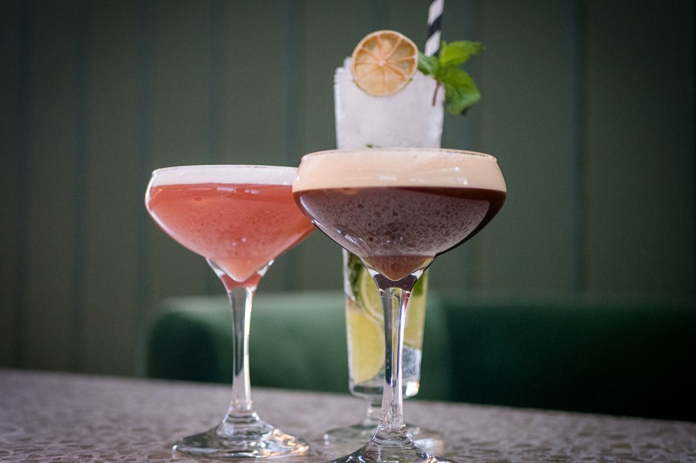 Three cocktails at Quayside Bar & Grill