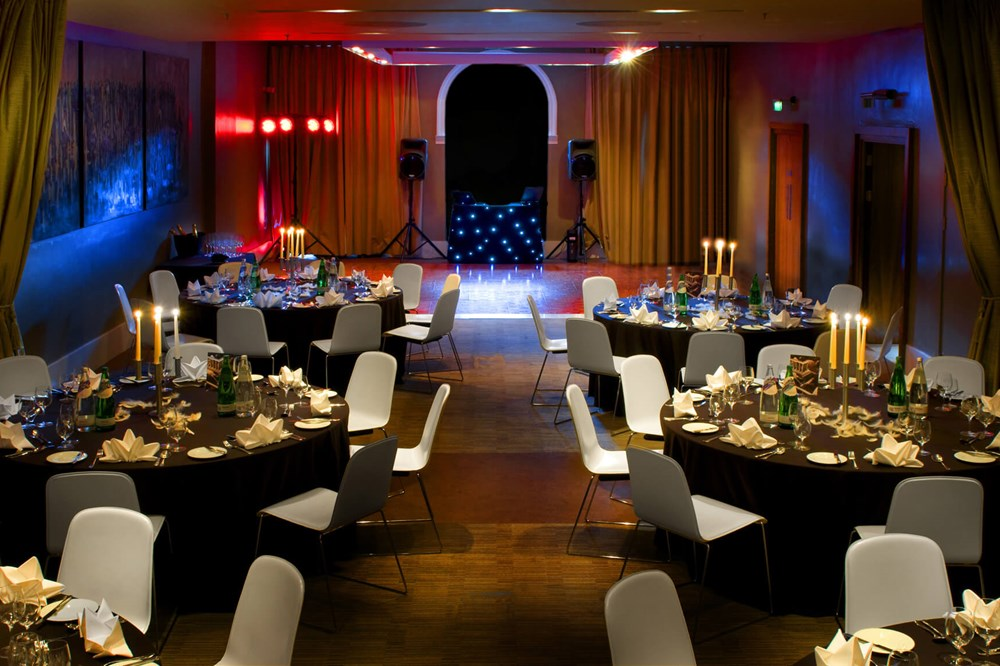 Waterloo Suite set for wedding with round tables