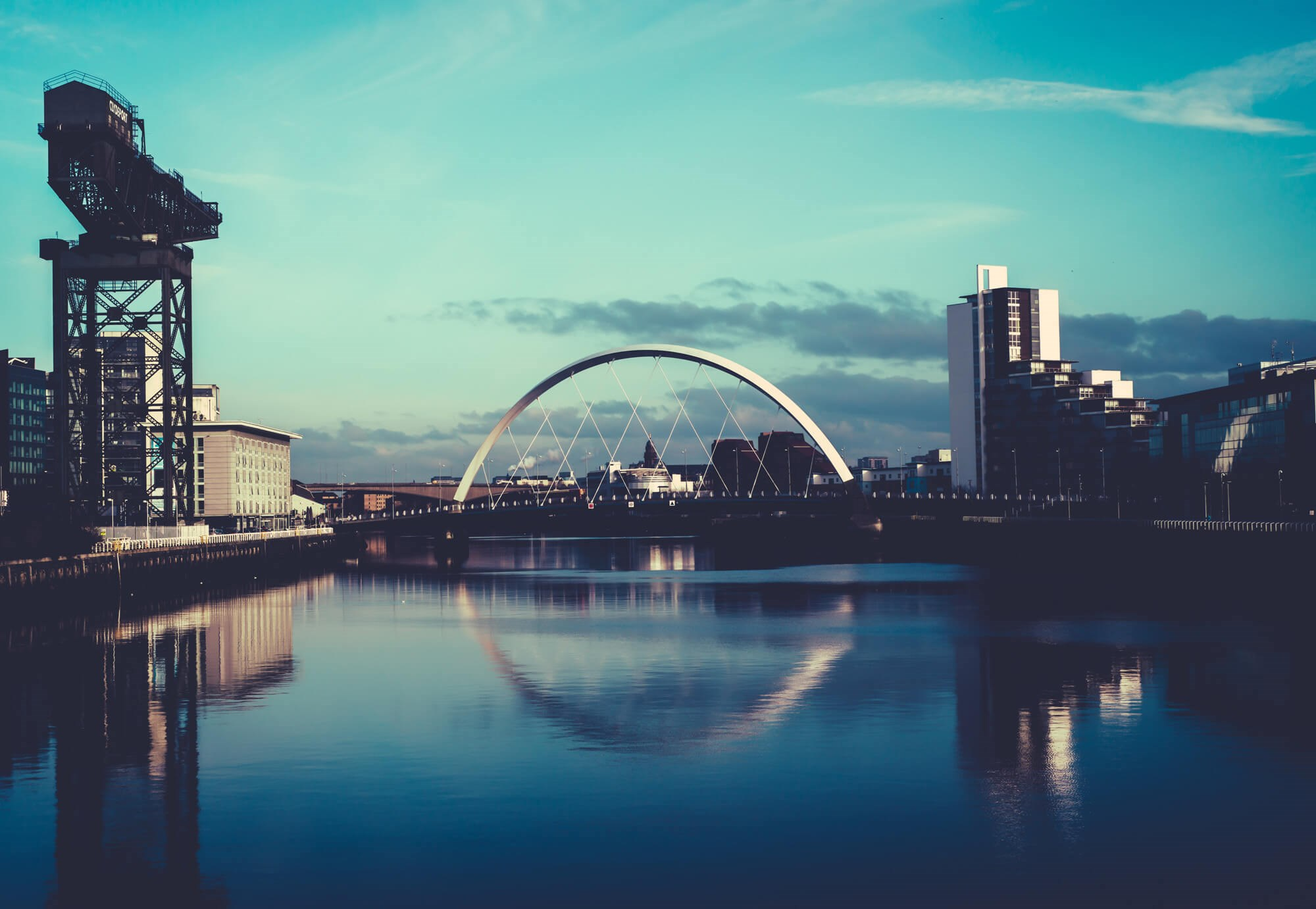 The Clyde Arc and River Clyde in Glasgow