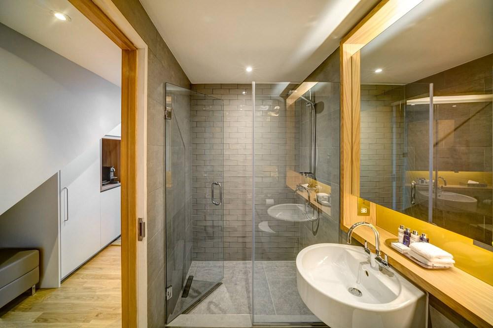 Duplex Suite bathroom with walk-in shower