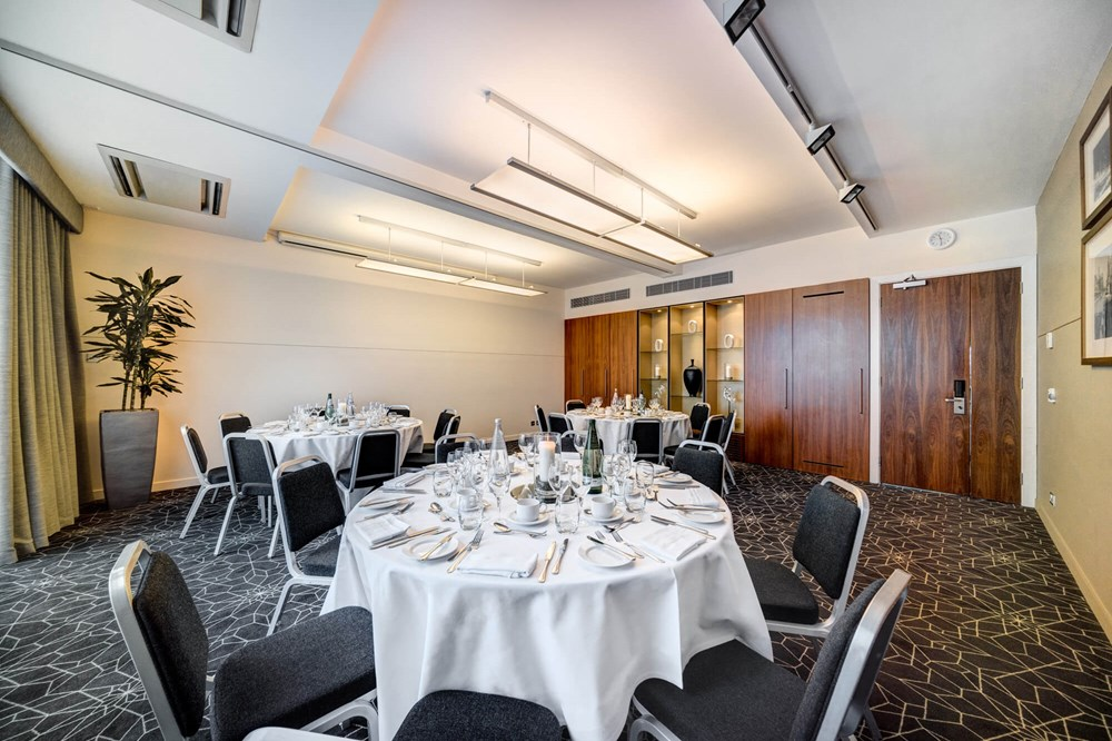 Melbourne room set up cabaret style for private dining