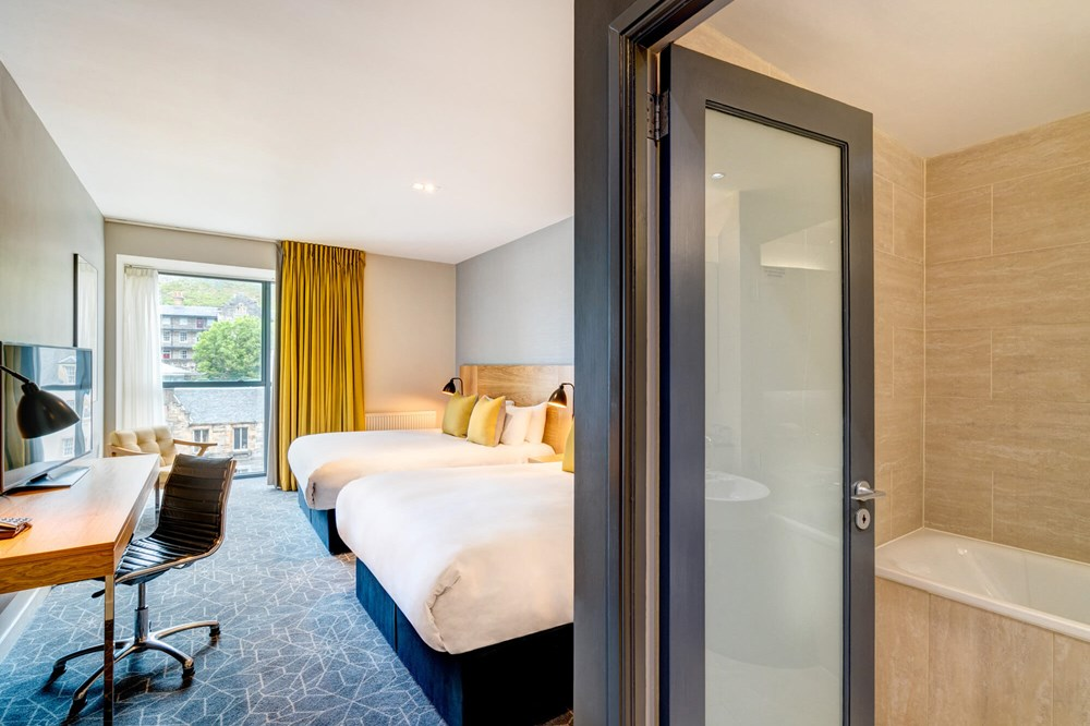 Family Room with two queen-size beds at Apex Grassmarket Hotel