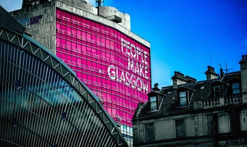 People Make Glasgow sign on side of building