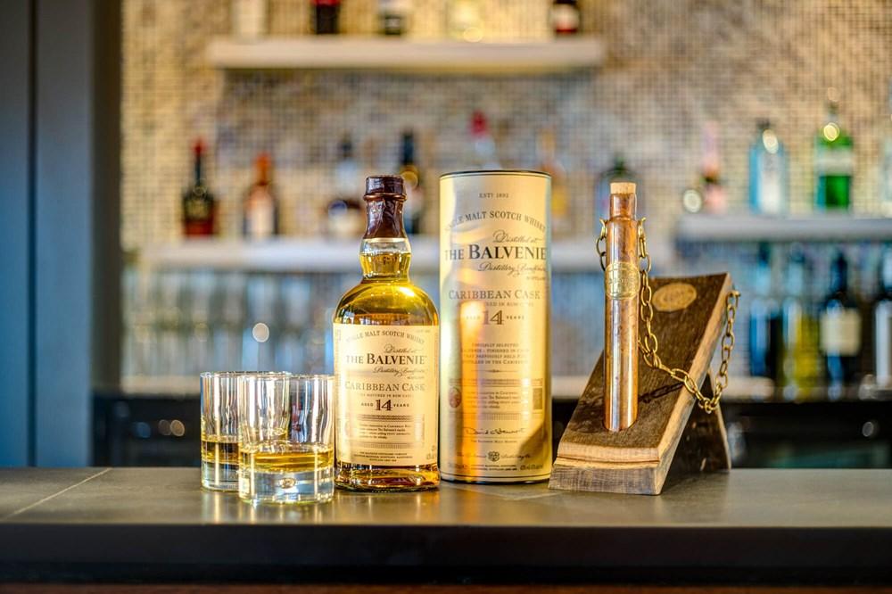 Bottle of whisky on bar at Metro Bar