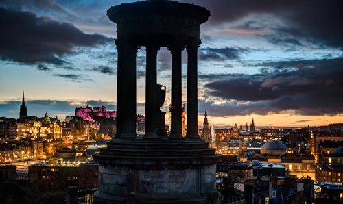 Calton Hill at dusk