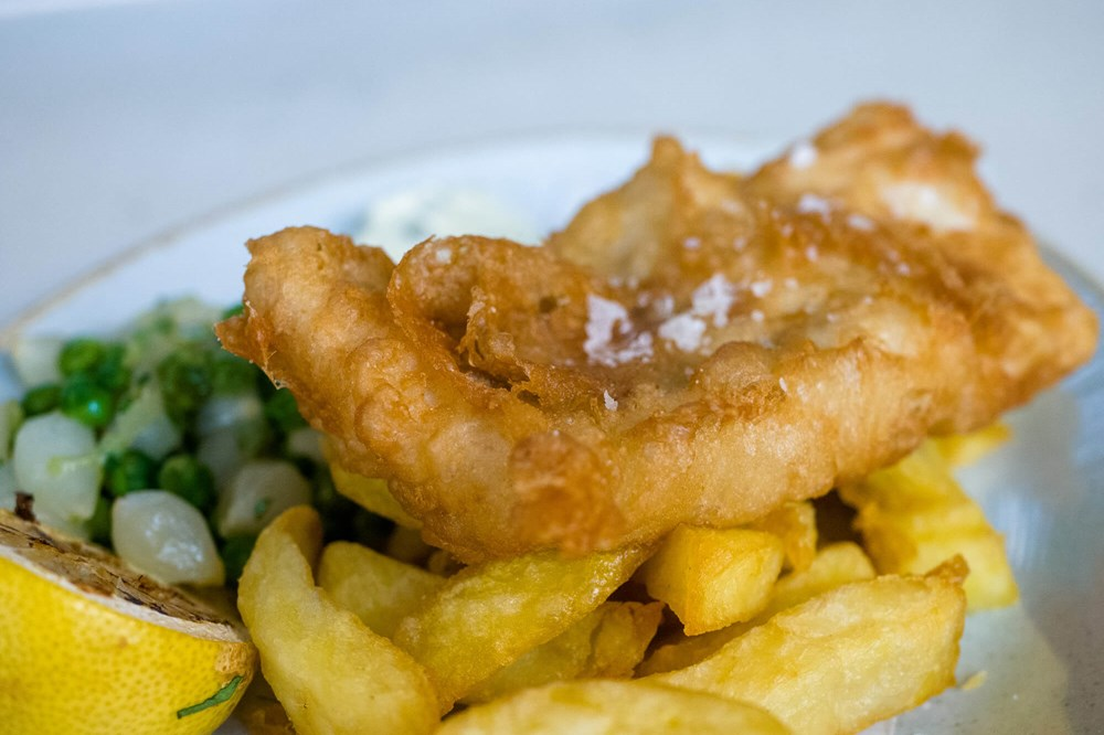 Fish and chips at Quayside Bar & Grill