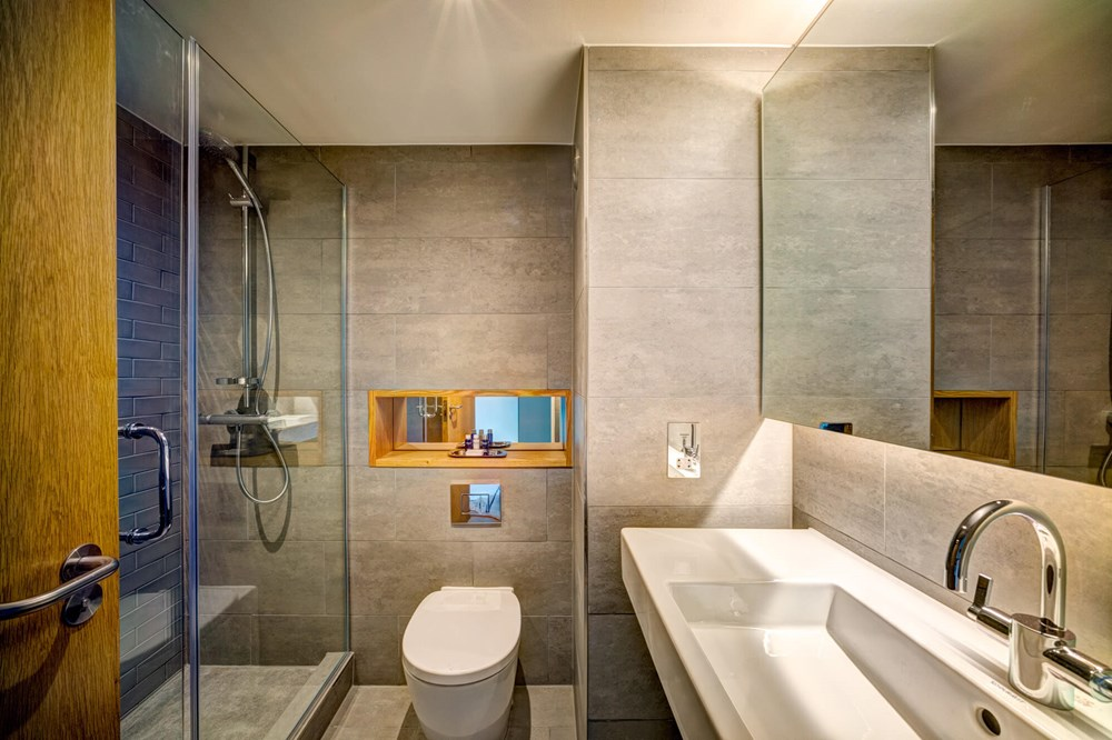 City View Room bathroom with walk-in shower