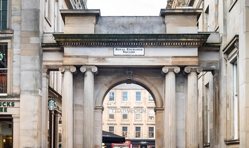 Royal Exchange Square archway in Glasgow
