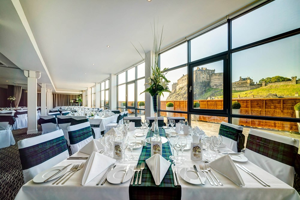 View of Edinburgh Castle from Heights venue set for social diningevent