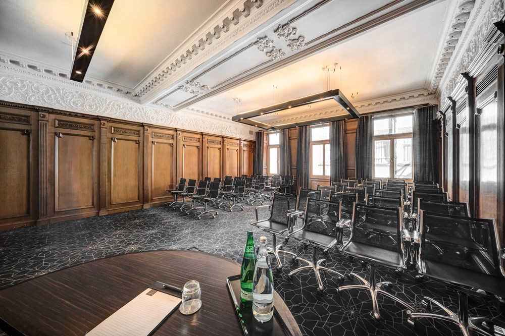 Forth room at Apex Waterloo Place Hotel set up theatre style for conference/meeting