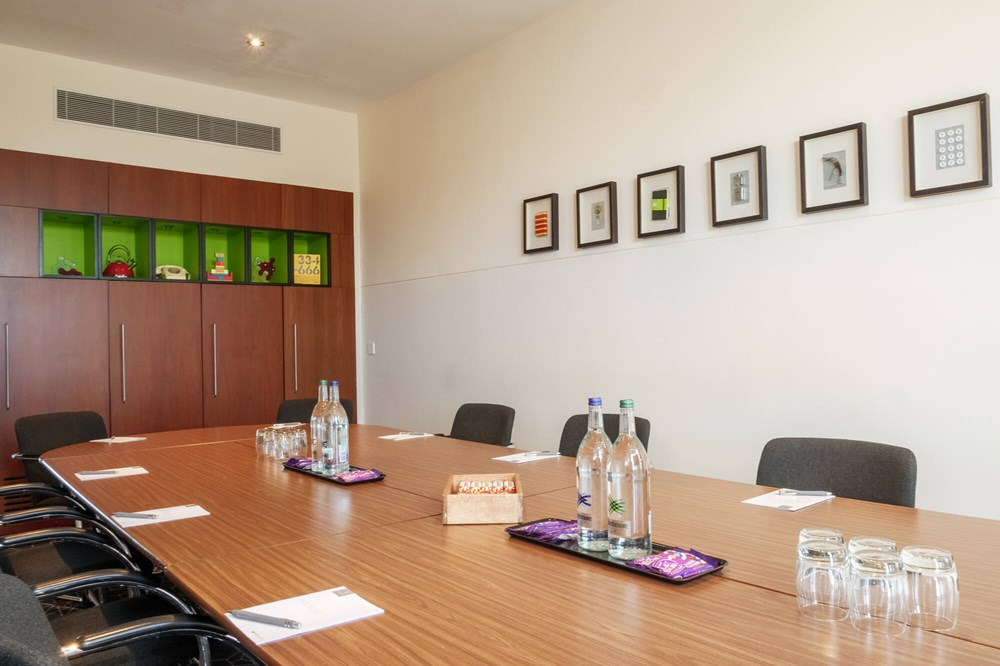 Inspire room at Apex City Quay Hotel & Spa set up boardroom style