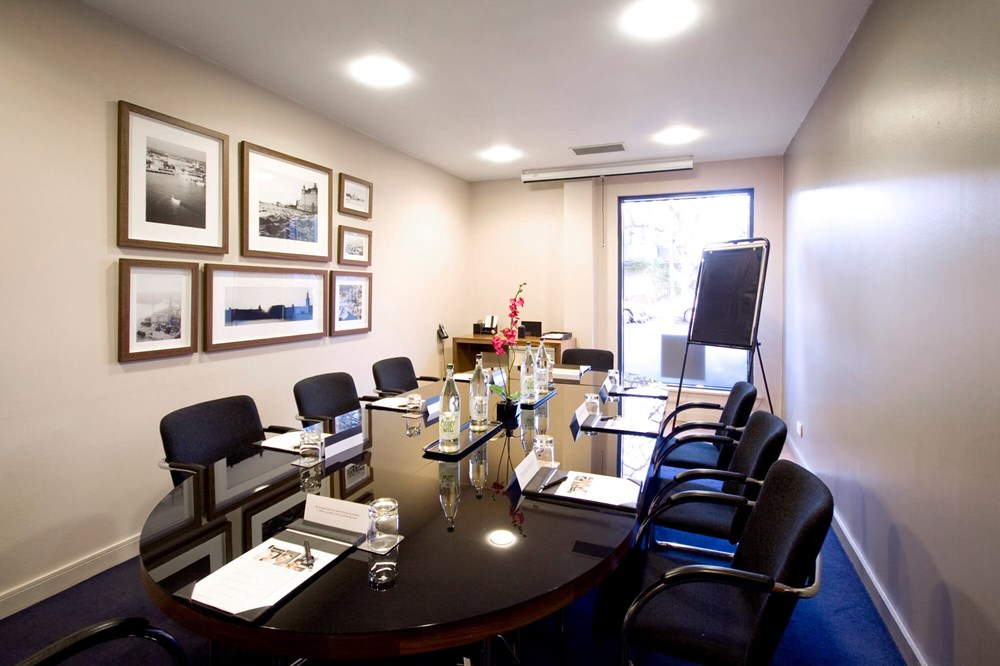Stockholm room at Apex Haymarket Hotel set up boardroom style