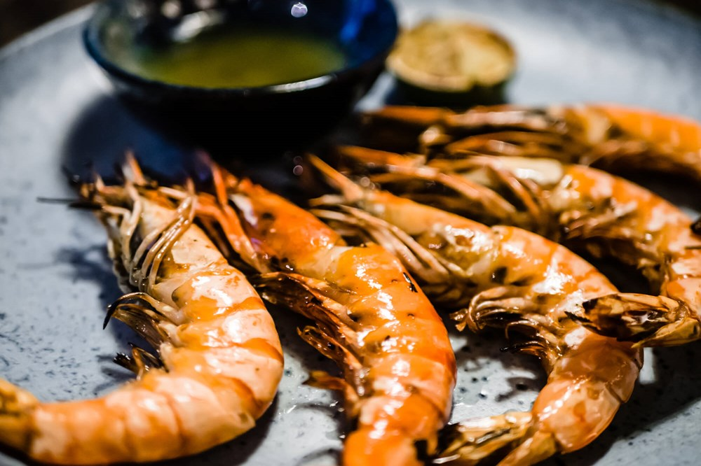 Langoustines with dipping sauce