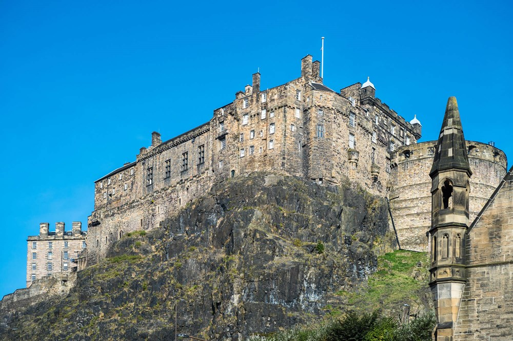 View of Edinburgh Castle from Heights