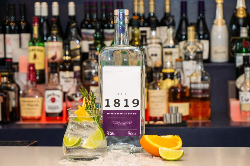 The 1819 gin on bar at Apex Waterloo Place Hotel