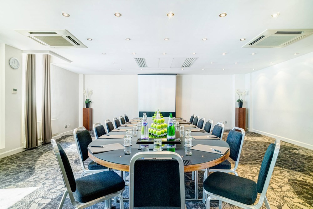 Sydney room set up boardroom style for meeting