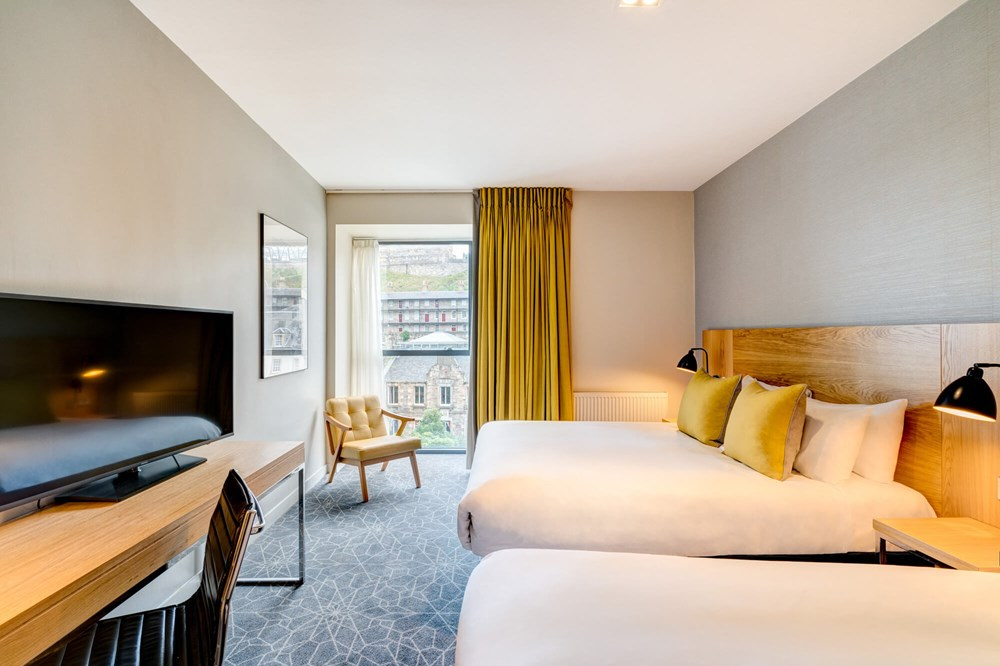 Family Room with two double beds at Apex Grassmarket Hotel