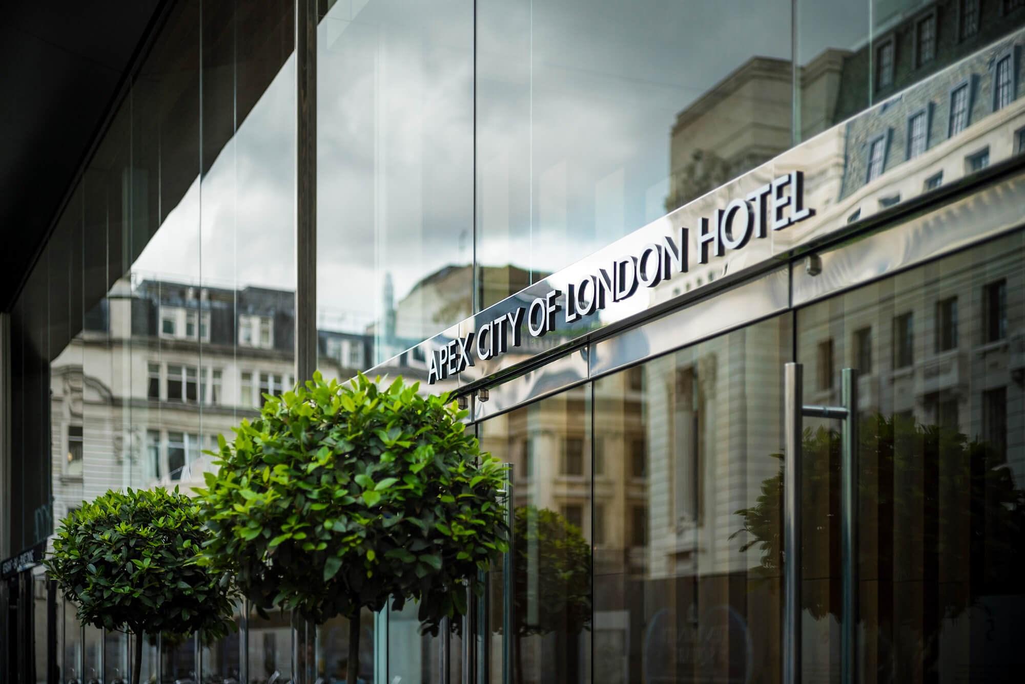 Apex City of London Hotel entrance